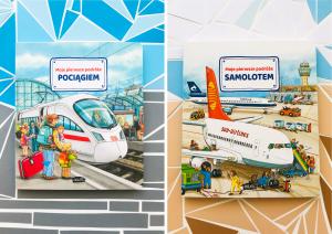 Moje pierwsze PODRÓŻE samolotem i pociągiem – wiosenne nowości od wydawnictwa SAM