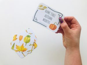 Name 3 things cards – AUTUMN edition (do pobrania)