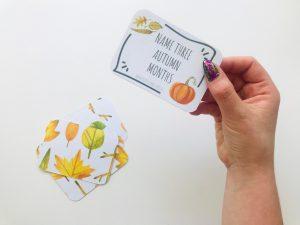 Name 3 things cards – AUTUMN edition (do pobrania)