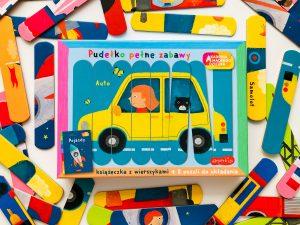 Dwustronne PUZZLE z pojazdami dla najmłodszych